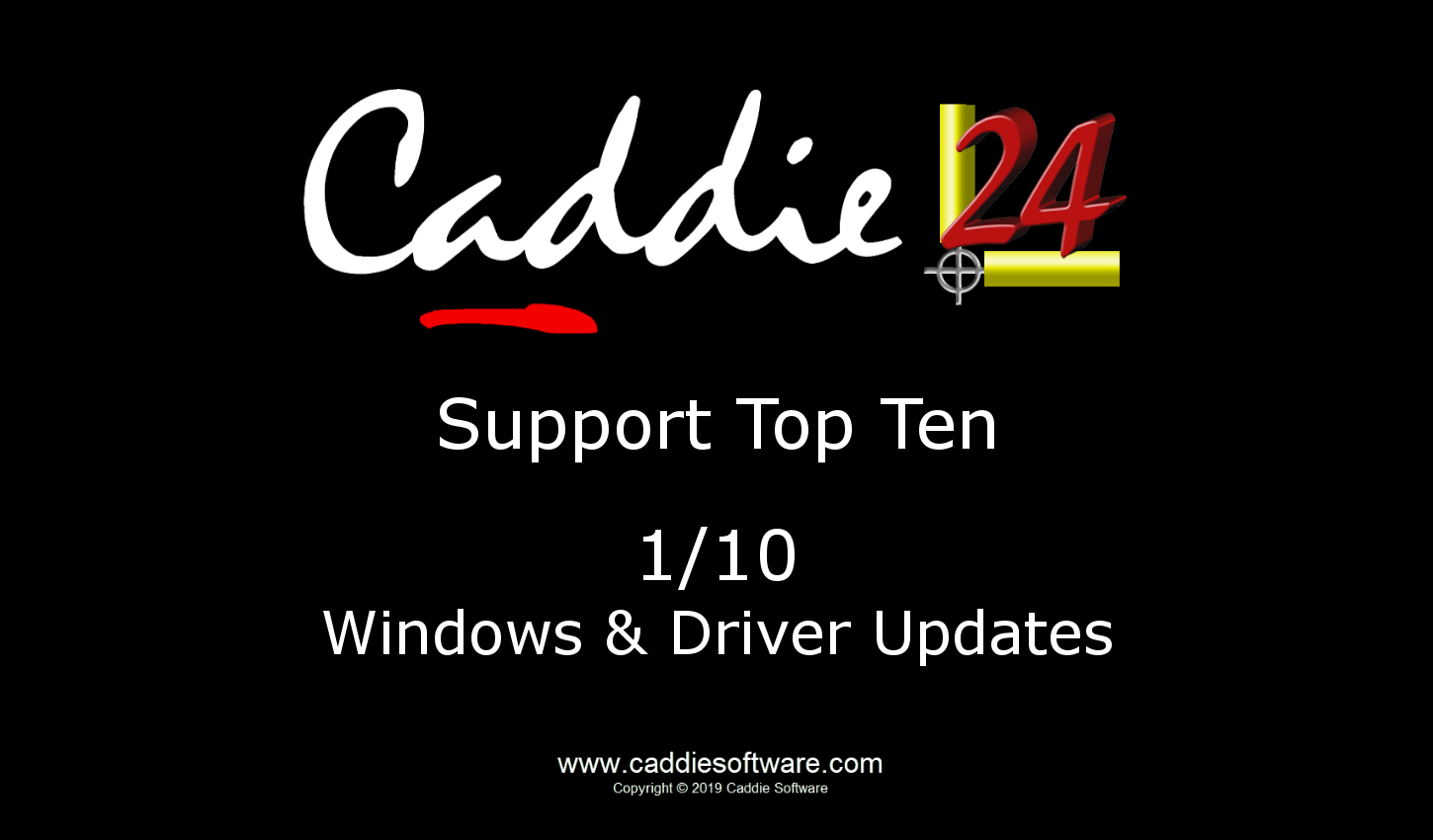 # 1/10 Windows and Driver Updates