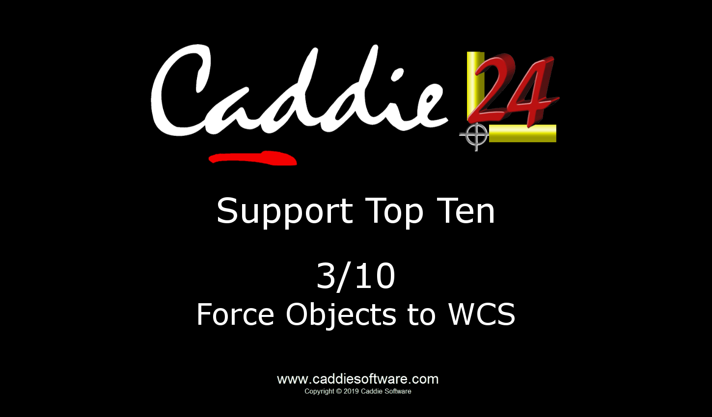 # 3/10 Force Objects to WCS