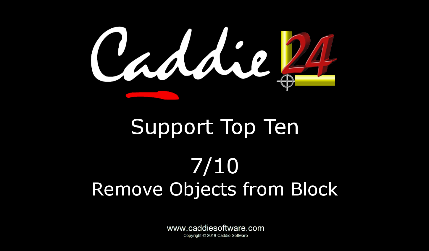 # 7/10 Remove Objects from Block