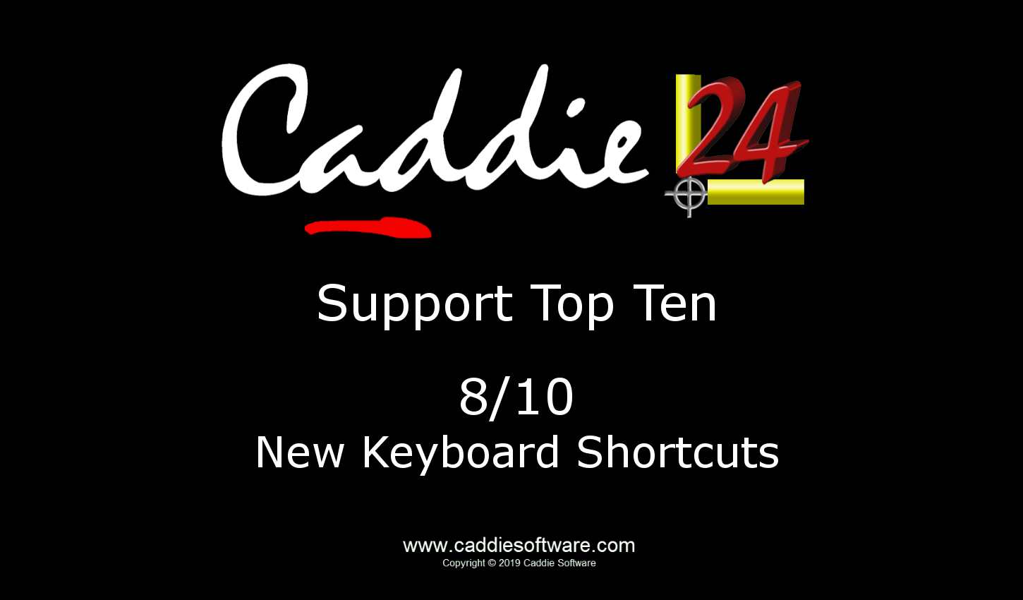# 8/10 New Keyboard Shortcuts